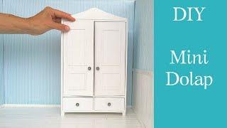 Mini Dolap yapımı / DIY Barbie dolap /Szafa dla Barbie-jak zrobić/Dollhouse Wardrobe /Doll furniture