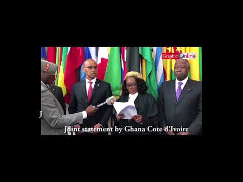 Ghana Cote d'Ivoire joint statement after ITLOS judgement