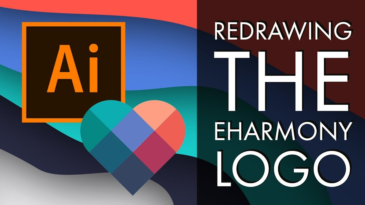 Redrawing the eHarmony Logo - Adobe Illustrator CC 2018 [35/39]