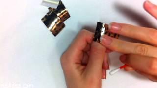 видео как использовать фольгу для дизайна ногтей