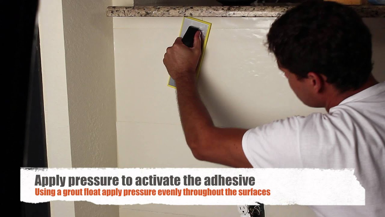Do It Yourself Peel Stick Adhesive Tile Set Roll   320LG40DIY15   YouTube