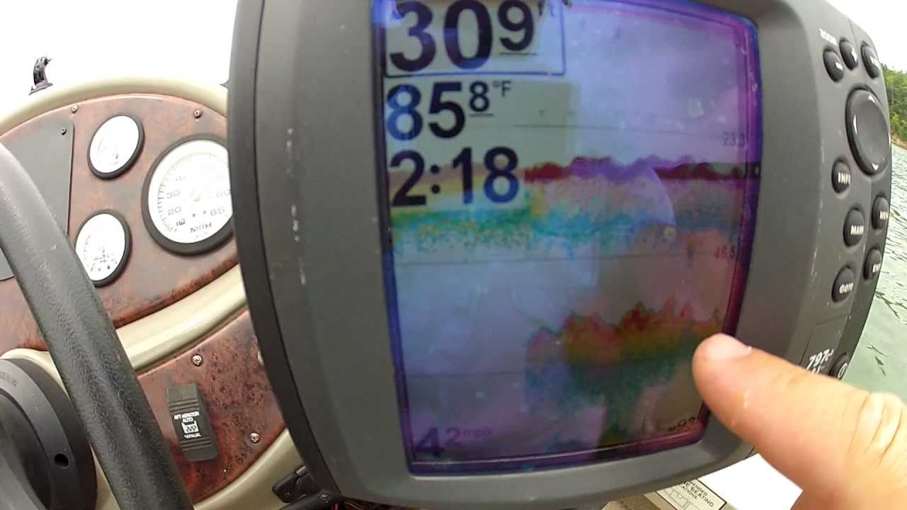 how to read a fish finder (finding the thermocline and other, Fish Finder