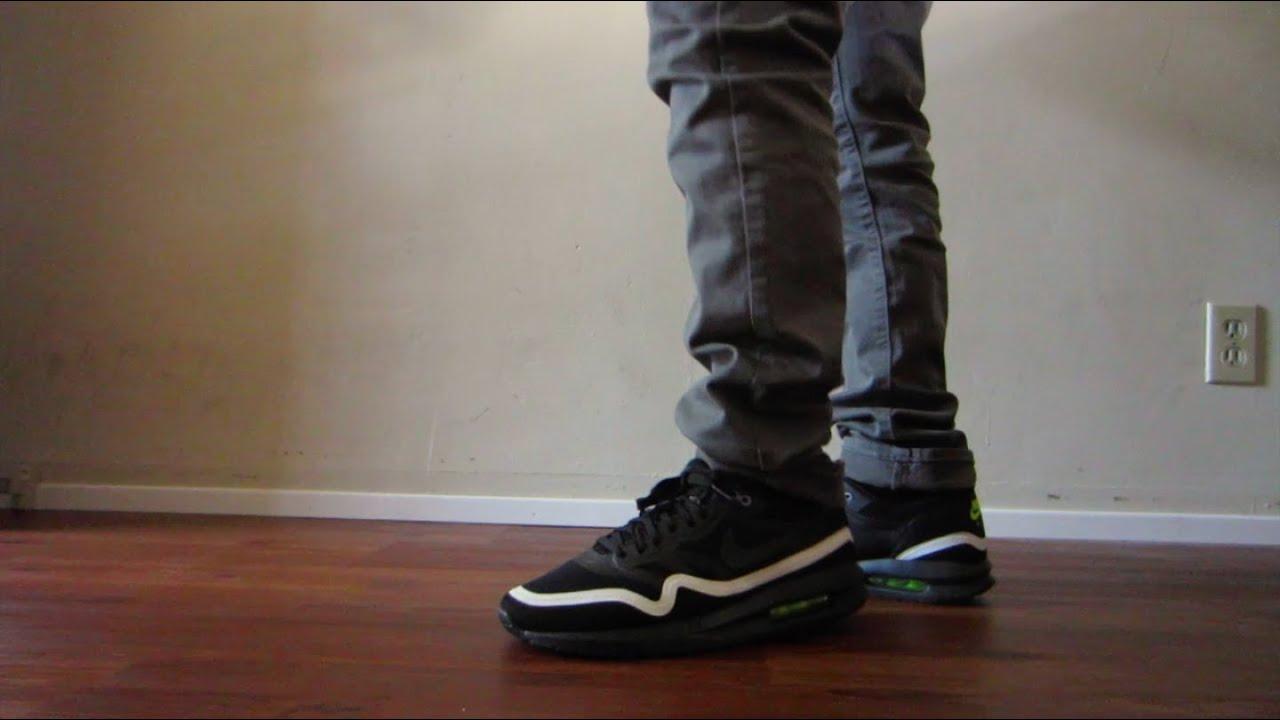 Nike Air Max Lunar Black And White On Feet - YouTube 6b0d1a21b