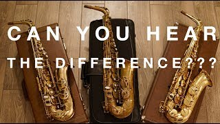 500$ vs 3000$ Sax Review. Can You Hear the Difference?