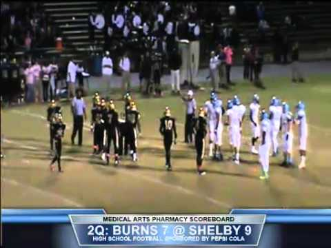 Burns at Shelby   1st Half