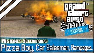 GTA San Andreas BETA - Misiones Secundarias (Pizza Boy, Car Salesman, Rampages...)