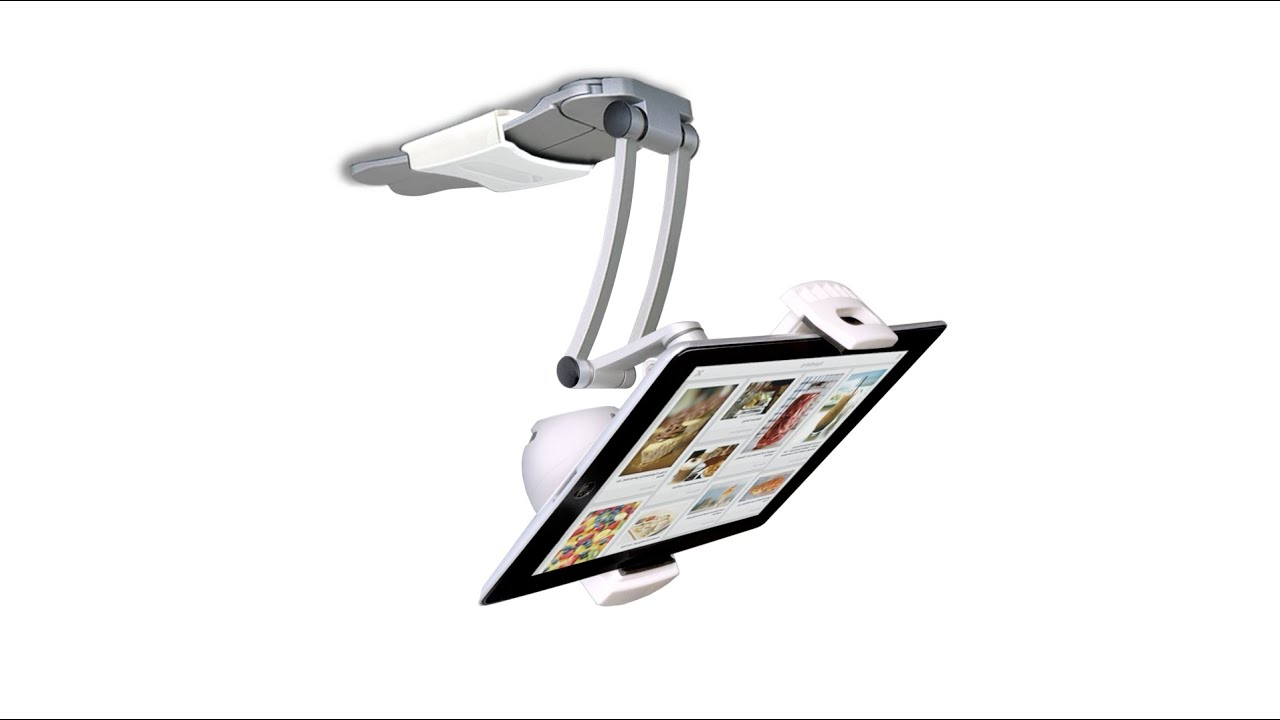2-in-1 Kitchen Mount Stand for iPad and Tablets with Bluetooth Speaker