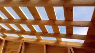 Обрешетка под рубероид(Обрешетка под рубероид своими руками. Как сделать обрешетку крыши сарая., 2014-11-29T16:37:43.000Z)