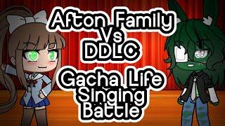 Afton Family vs. DDLC || Singing battle || Gacha Life || Pastel Gacha