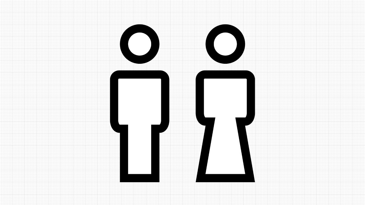 How to draw Toilet Sign Vector in App GRAPHIC for IPad