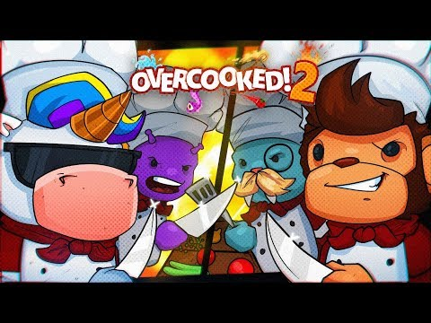 COUPLE VS COUPLE IN OVERCOOKED! (RAGE QUIT) - Overcooked 2 Co-op!