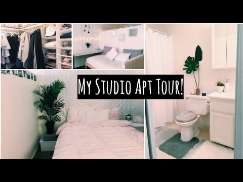 Studio Apartment Tour my studio apartment tour | 2016-2017 - youtube