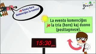 4 2As horas em Esperanto horoj