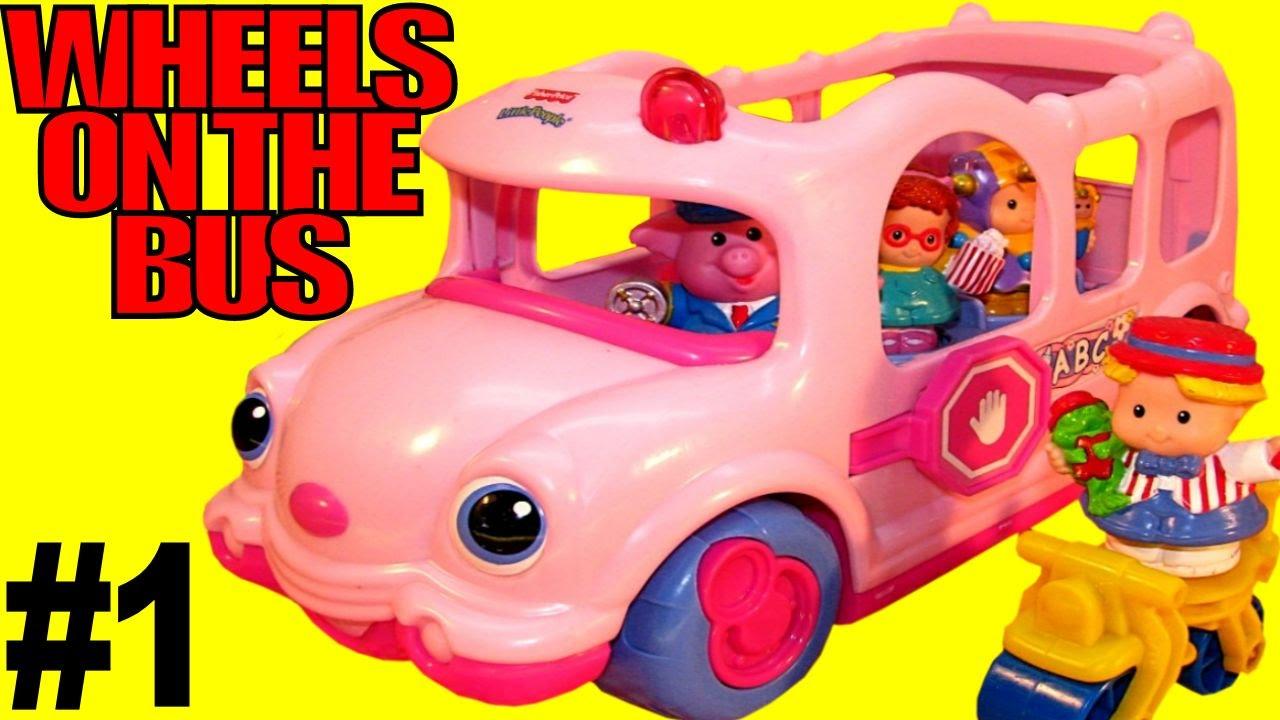 Fisher Price Nursery Rhymes ABC 123 Talking Singing Bus ...  |Fisher Price Bus Nursery Rhymes