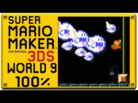 Super Mario Maker for Nintendo 3DS - World 9 | Super Mario Challenge 100% Walkthrough