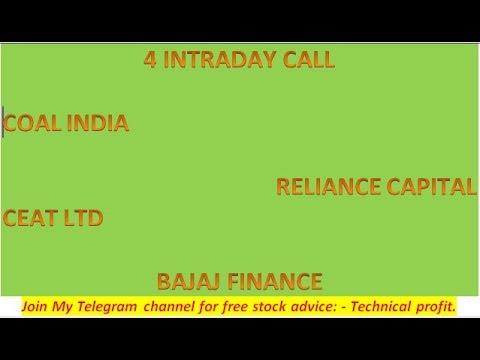 Telegram link in Description (4 INTRADAY CALL COAL INDIA, RELIANCE CAPITAL, CEAT LTD  BAJAJ FINANCE