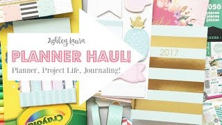 Planner Haul | Ashley Laura | January 2017
