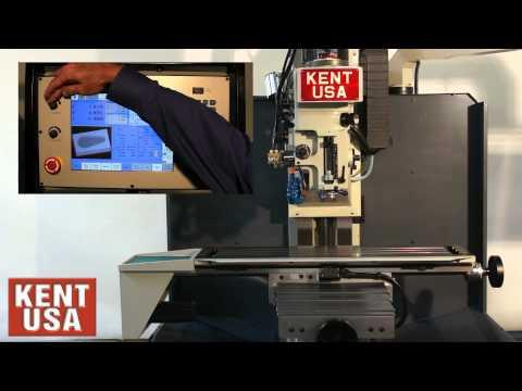 Kent USA TW-32QI Milling Machine With Acu-Rite Test Run.mp4