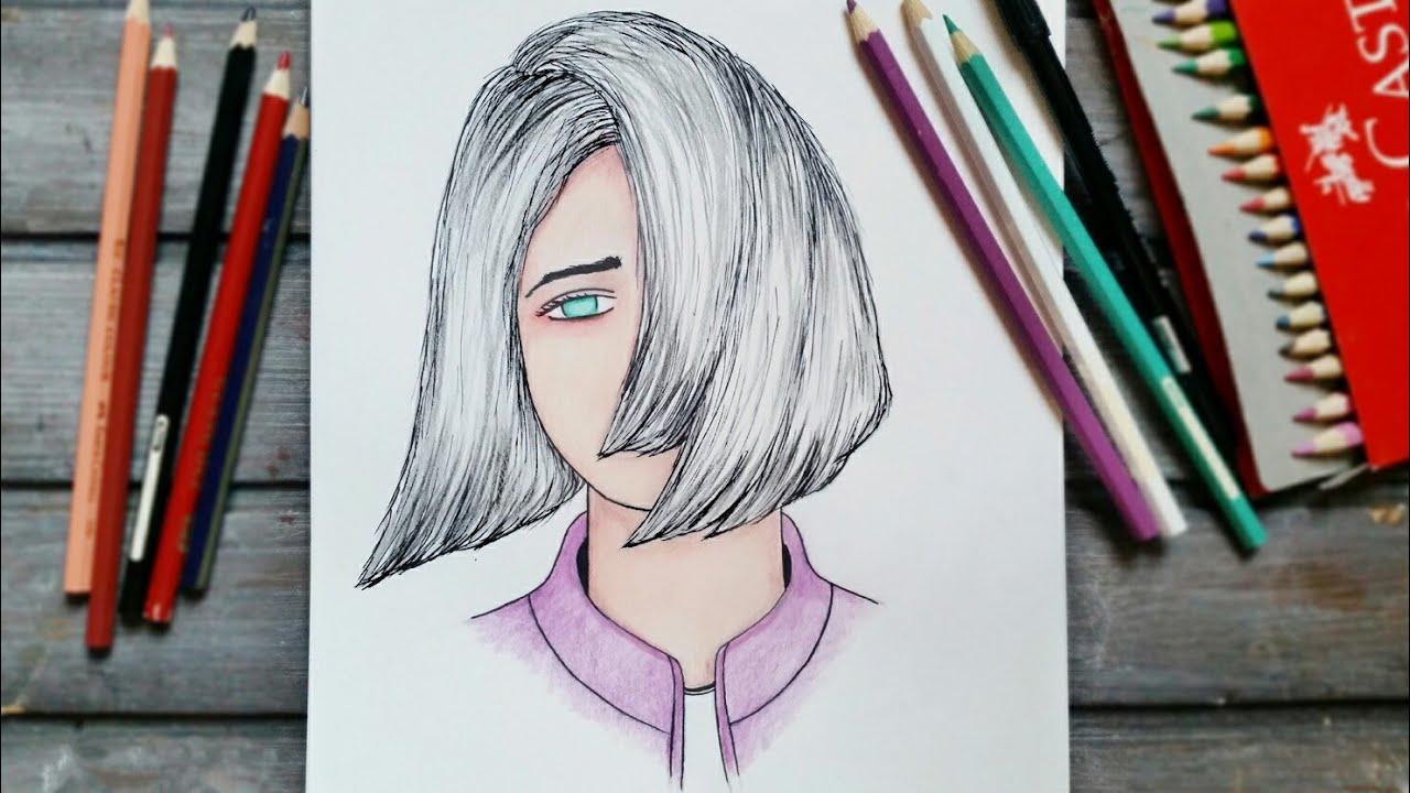 رسم سهل تعليم رسم بنت سهل بطريقة سهلة وبسيطة رسم بنات كيوت رسم