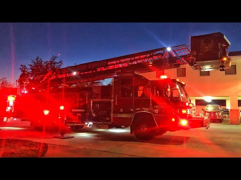 *NEW* Truck 13 Ladder Demo/Set up - Tampa Fire Rescue