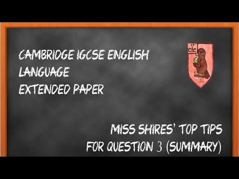 iGCSE English Language Question 3 Revision Tips