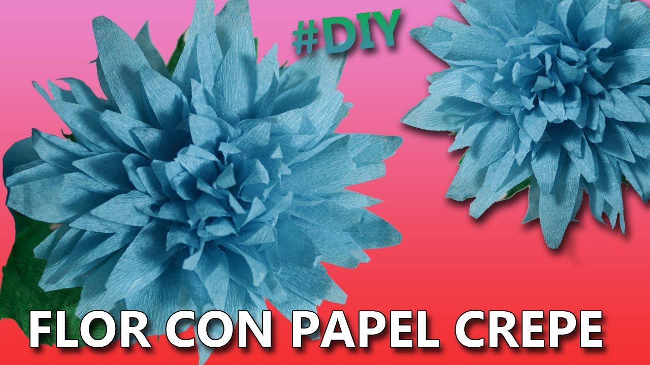 Como hacer flores de papel crepe f ciles paso a paso - Videos de como hacer crepes ...