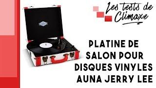 Test d'une platine vinyle Auna Jerry Lee (lecture disques vinyle 33 tours, 45 tours et 78 tours)