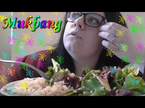 ~ MUKBANG ! (Riz+Salade) Et mon Homme qui s'installe ^^