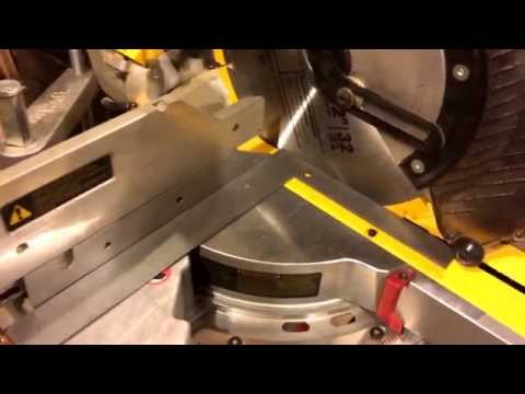 Squaring a DeWalt Miter Saw on Factory Scale