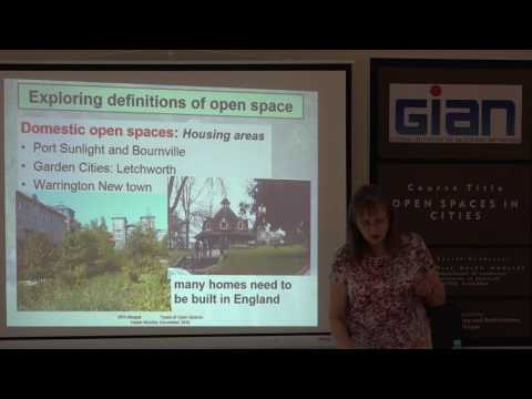 Lecture 1 Benefits of Open spaces Urban Open Spaces written by Prof Woolley.