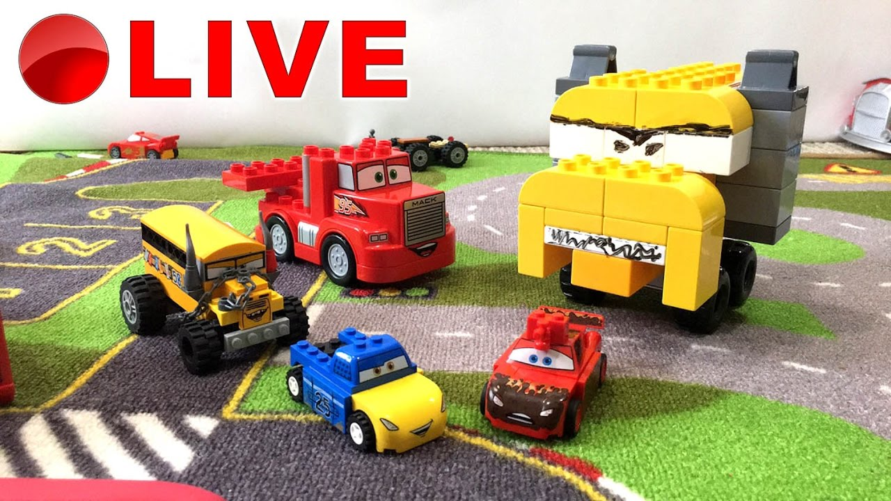 Disney Cars 3 Toys 🔴 Lego Duplo Custom Build 🔴 Cars 3 LIVE ...