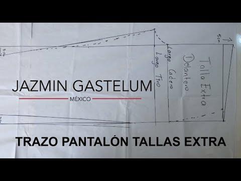Trazo Pantalon Tallas Extra Youtube