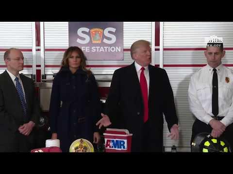 President Trump Speaks at a SAFE Station