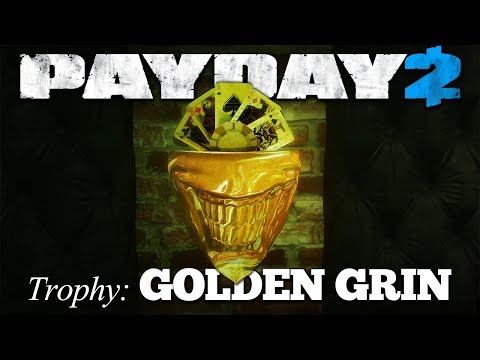 GOLDEN GRIN - The Golden Grin Casino, OD Solo Stealth, Pistols only [Payday 2 Trophies]