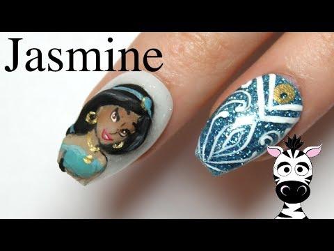 3D Jasmine Acrylic Nail Art Tutorial   Aladin     Disney Princess Series thumbnail