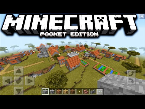 Minecraft PE 0.15.0 - SEED DE NUEVA ALDEA EN LA SABANA (Minecraft Pocket Edition)