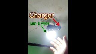 menghidupkan led 3 watt dgn charger hp