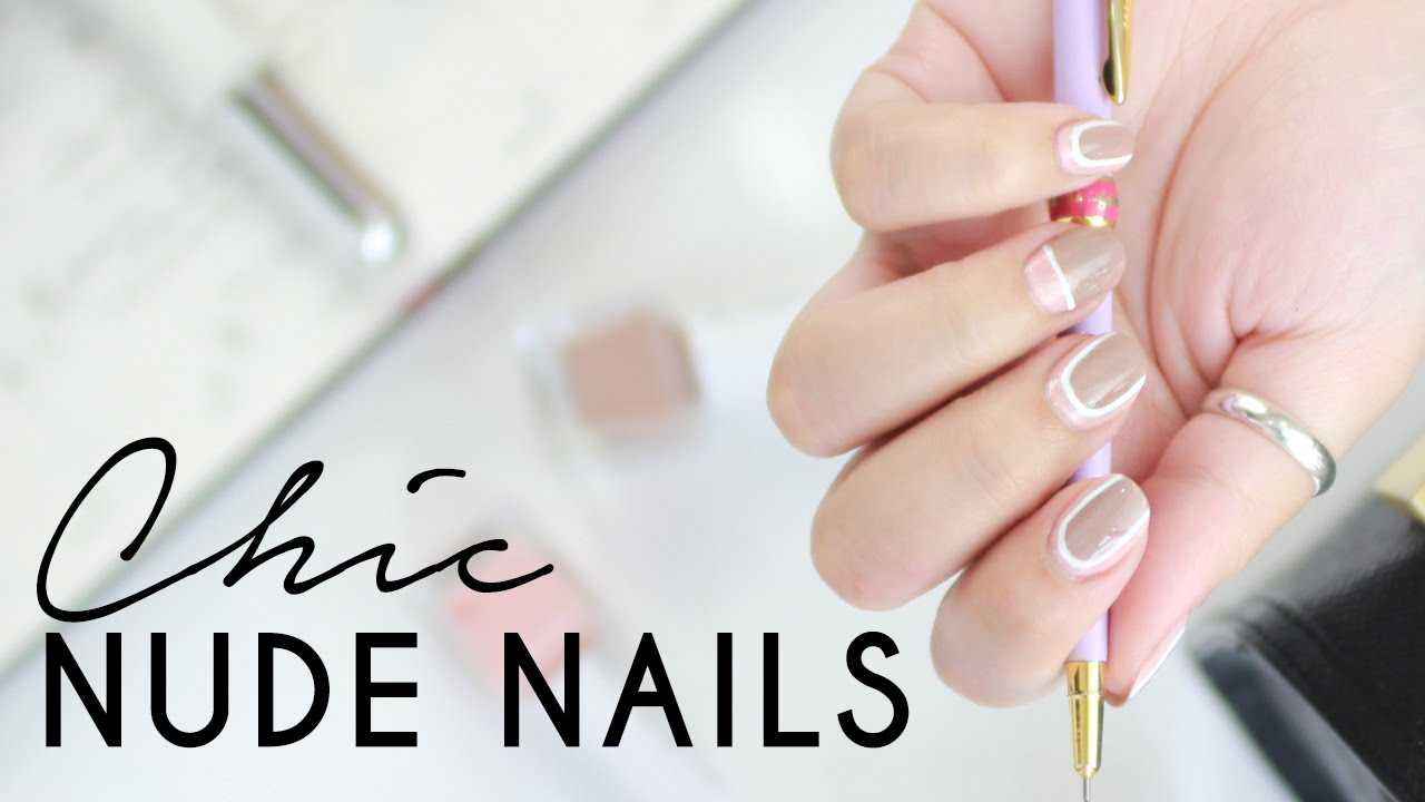 Office Nail Art | Simple Chic Nail Art Tutorial | Wishtrend - YouTube