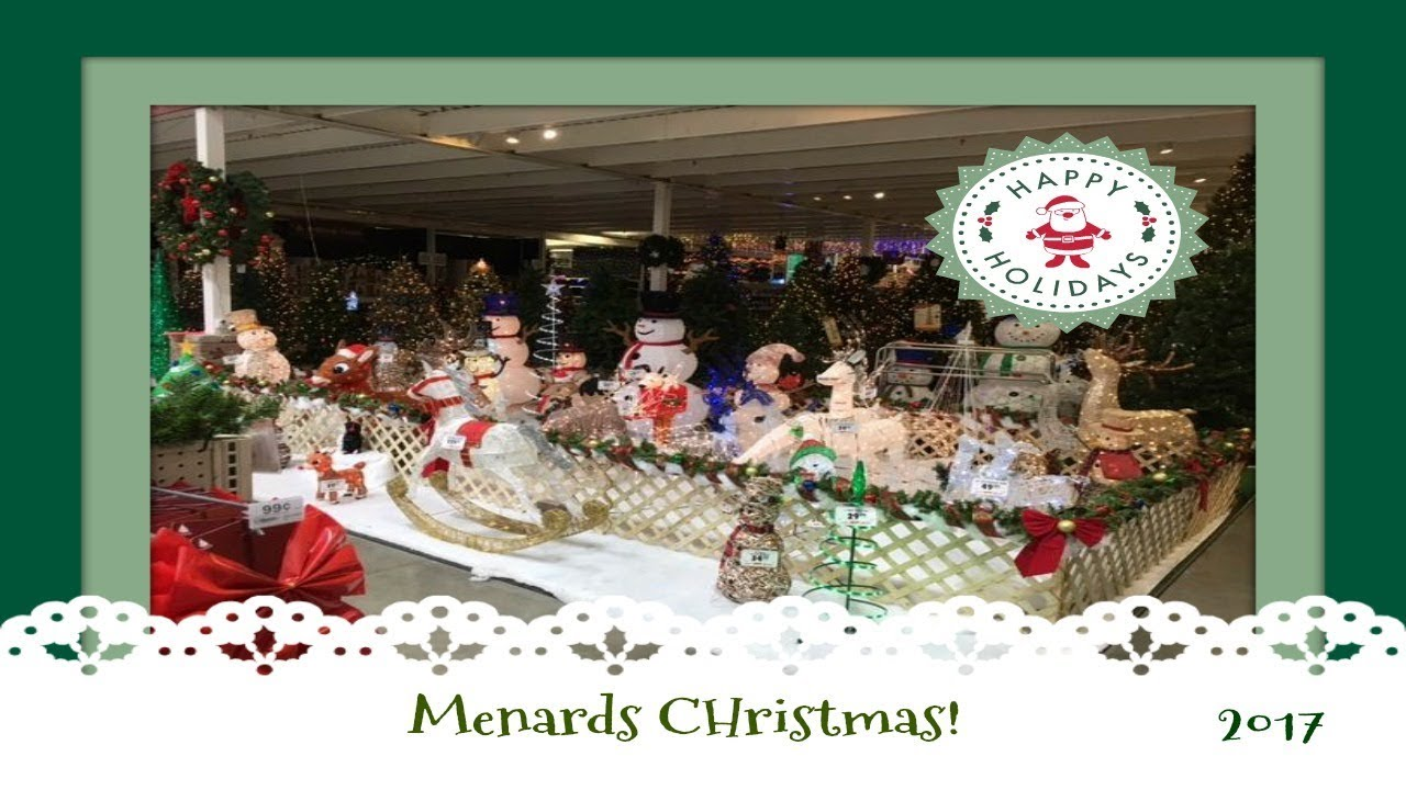 christmas decor shopping at menards pt 3 2017
