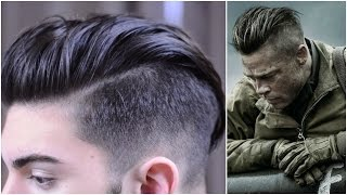 Mens Hair | Brad Pitt Fury: Inspired Hairstyle Tutorial