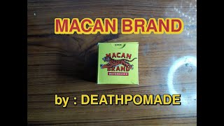 Macan Brand Waterbased Pomade by Death Pomade