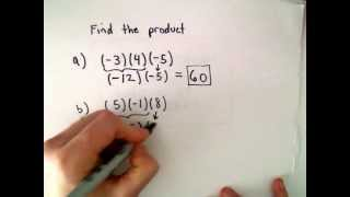 Multiplication / Multiplying Integers
