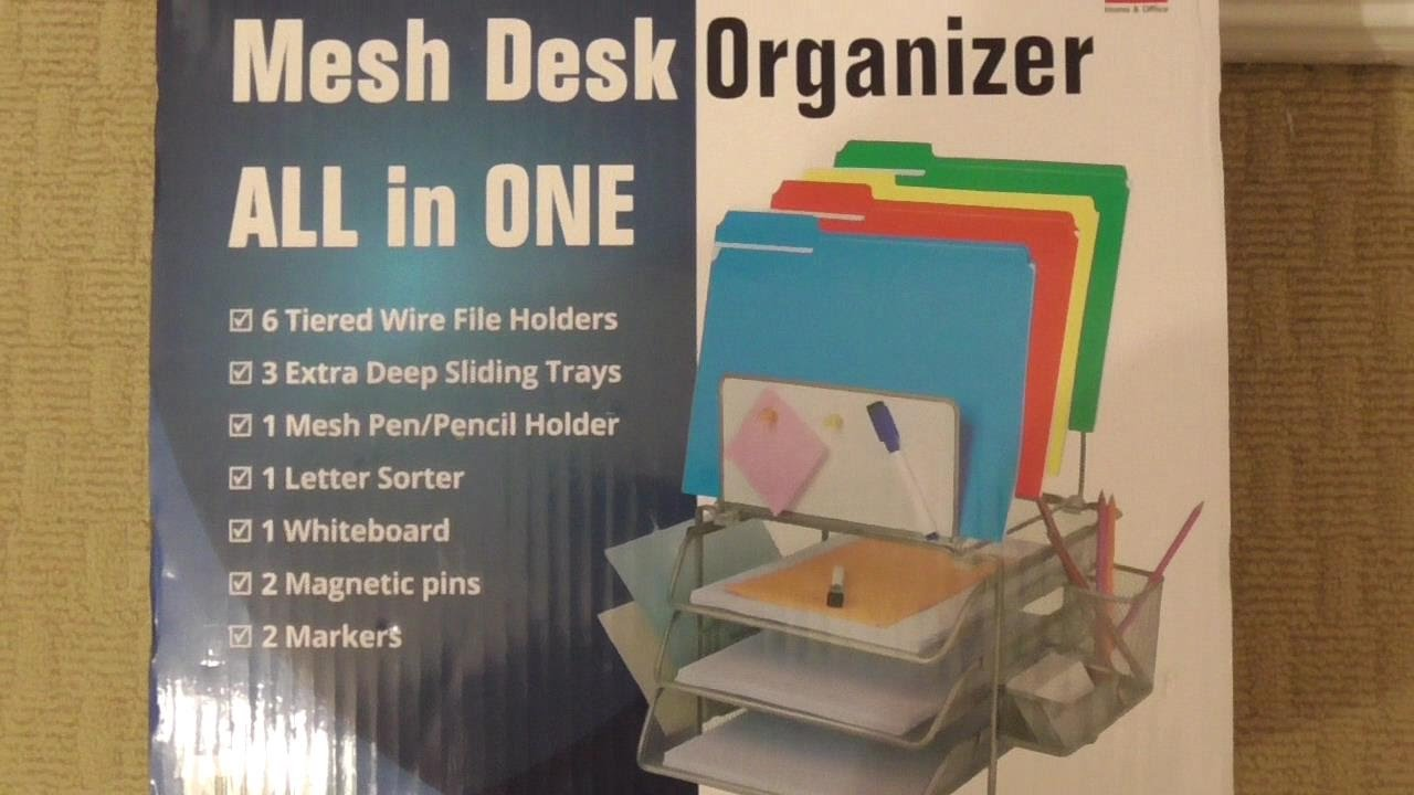 Sunrising Mesh Desk Organizer All In One Costco 998668 Review Assembly