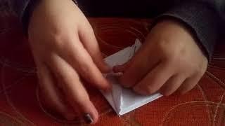 делаем оригами чёртик. Монстрик из бумаги