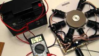 CRAZY bedini adams magnetic pulse motor generator !!! Fast !!!