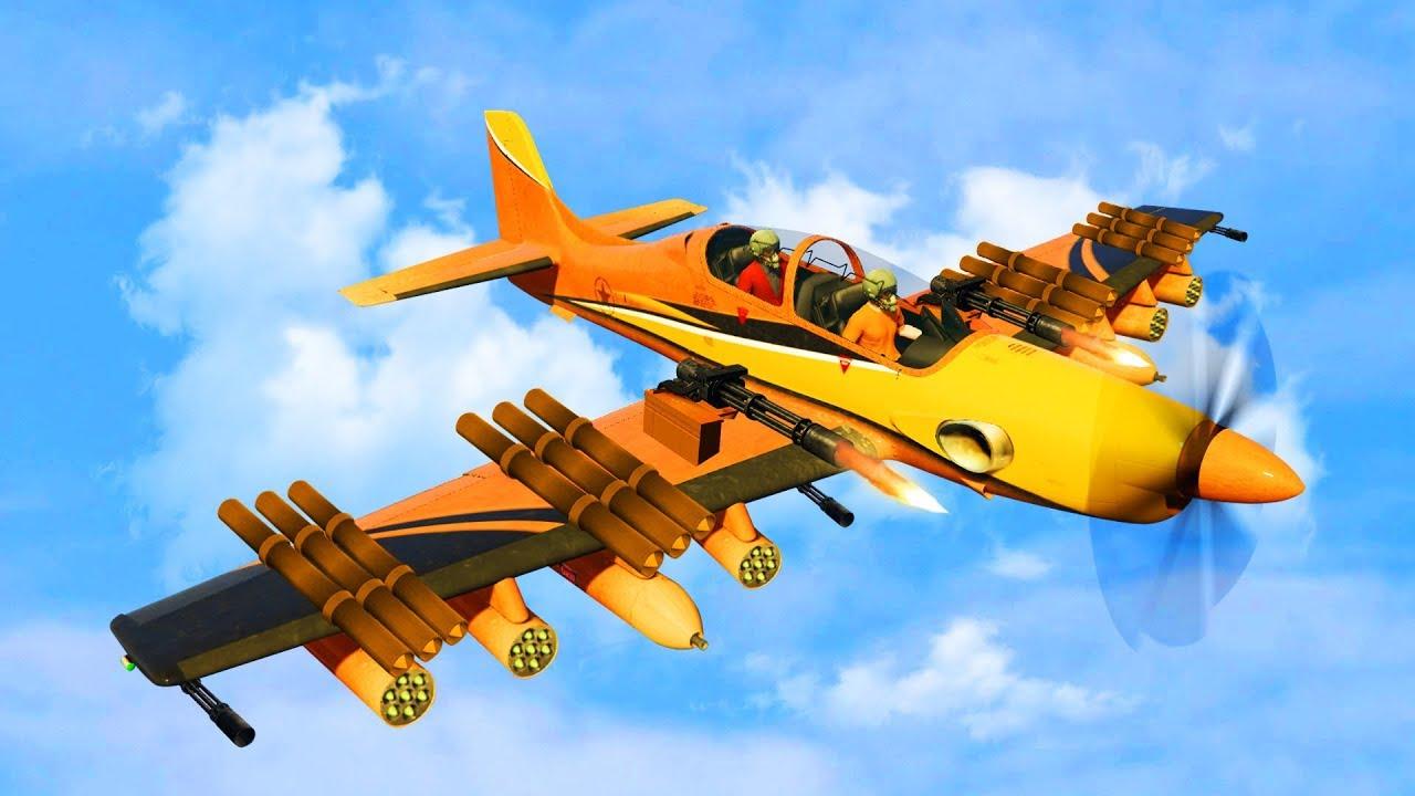 New Insanely Powerful Bomber Plane   Gta 5 Dlc