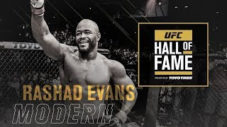 Rashad Evans Joins the UFC Hall of Fame