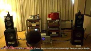 Katli Audio, Pass Labs INT 250, Usher Audio, Triangle Art, Accuphase, Cocktail Audio, a great exhibi