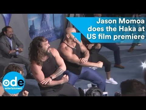 Aquaman's Jason Momoa does the Haka at US film premiere