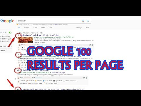 google 100 results per page, chrome settings, google search results ...